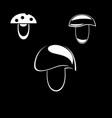edible mushroom icon vector image vector image