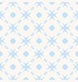 elegant minimalist floral pattern in blue color vector image vector image