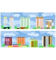 Facades of buildings vector image vector image
