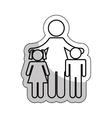 family parents silhouette isolated icon vector image vector image