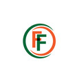 ff company logo template design vector image