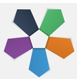 Five arrows on white vector image