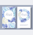 floral blue round banners vector image vector image