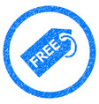 free tag rounded grainy icon vector image vector image