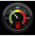 fuel gauge colored scale over black background vector image vector image