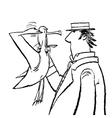 Gentleman and Seagull humor vector image vector image