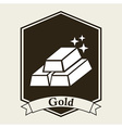 gold bullion design vector image vector image