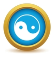 Gold Taoism icon vector image