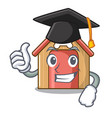 graduation cartoon dog house and bone isolated vector image vector image