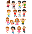 happy kid cartoon collection vector image vector image