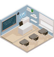 isometric classroom icon vector image