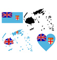 map of Fiji vector image vector image
