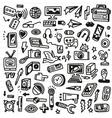 mass media - doodles set vector image vector image