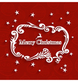 Merry Christmas retro label greeting card vector image vector image