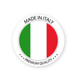 modern made in italy label italian sticker vector image