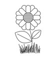 monochrome silhouette of abstract sunflower plant vector image vector image