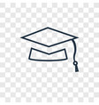 mortarboard concept linear icon isolated on vector image