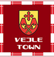national ensigns of denmark - vejle town vector image vector image