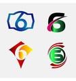 Number logo design Number six logo Logo 6 vector image vector image