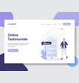 online testimonials concept vector image vector image