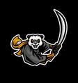 panda samurai mascot vector image vector image