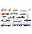 passenger transport set vector image