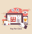 pay per click online bankinginternet marketing vector image vector image