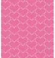 Pink seamless pattern with hearts vector image vector image