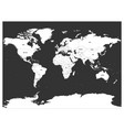 political map of world white lands and dark grey vector image vector image