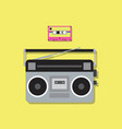 retro radio player and cassette tape vector image