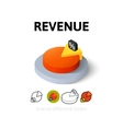 Revenue icon in different style vector image vector image