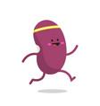running beans cartoon character vector image vector image