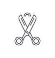 scissors line icon concept scissors linear vector image