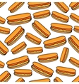 Seamless pattern of hot dogs vector image