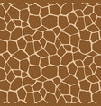 seamless pattern with giraffe skin vector image vector image