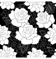 seamless rose vector image vector image