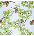 seamless texture various pine branch winter vector image vector image