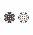 set of casino chips top view vector image