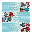 set of horizontal banners about poison creatures vector image vector image