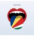Seychelles language Abstract human tongue vector image vector image