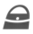 shopping bag halftone dotted icon vector image vector image