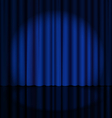 Stage Curtain with Light Spot vector image vector image