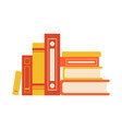 stylized book pile collection vector image