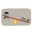 Teamwork Money Roll vector image vector image