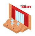 theatre isometric concept vector image