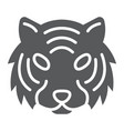 tiger glyph icon animal and zoo cat sign vector image vector image