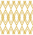 tile pattern with golden plaid on white background vector image vector image