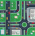 traffic city top flat poster vector image vector image