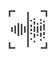 voice recognition identification line icon 48x48 vector image vector image