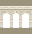 wall with arches vector image vector image
